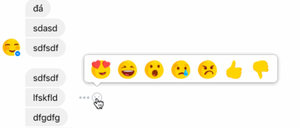 Email x1 facebook messenger reactions