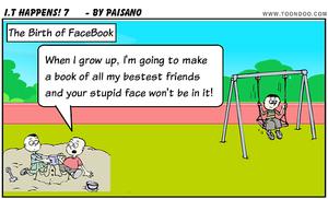Email x1 facebook cartoon